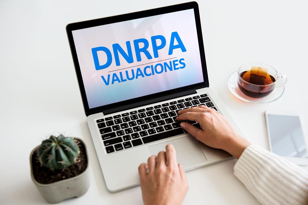 DNRPA valuaciones en computadora